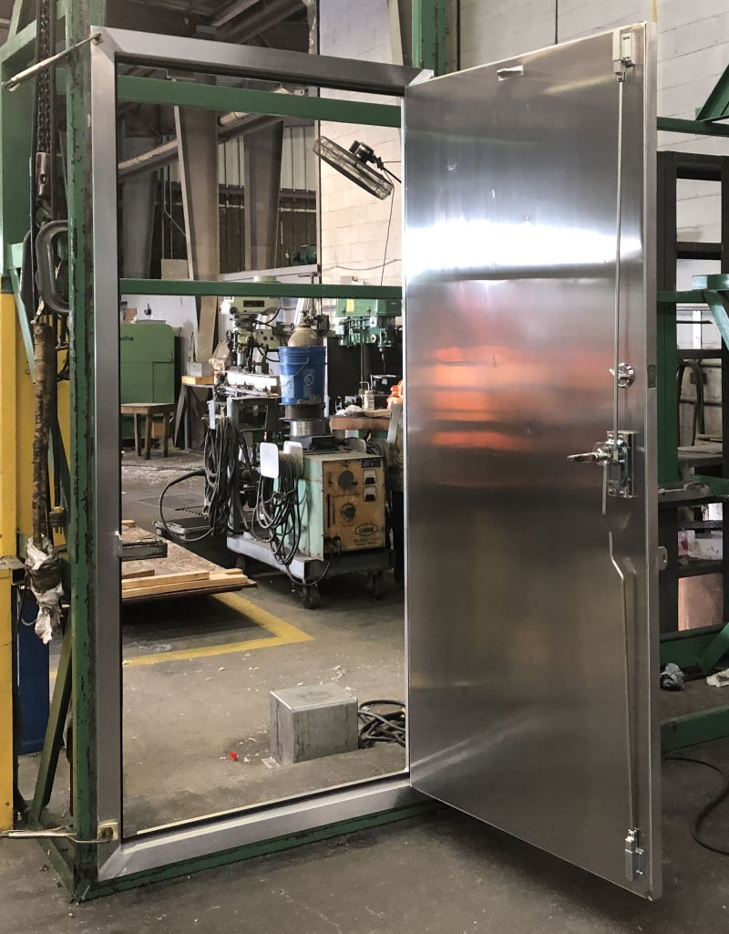 Aluminum Container Door with 3 Point Locking System 1