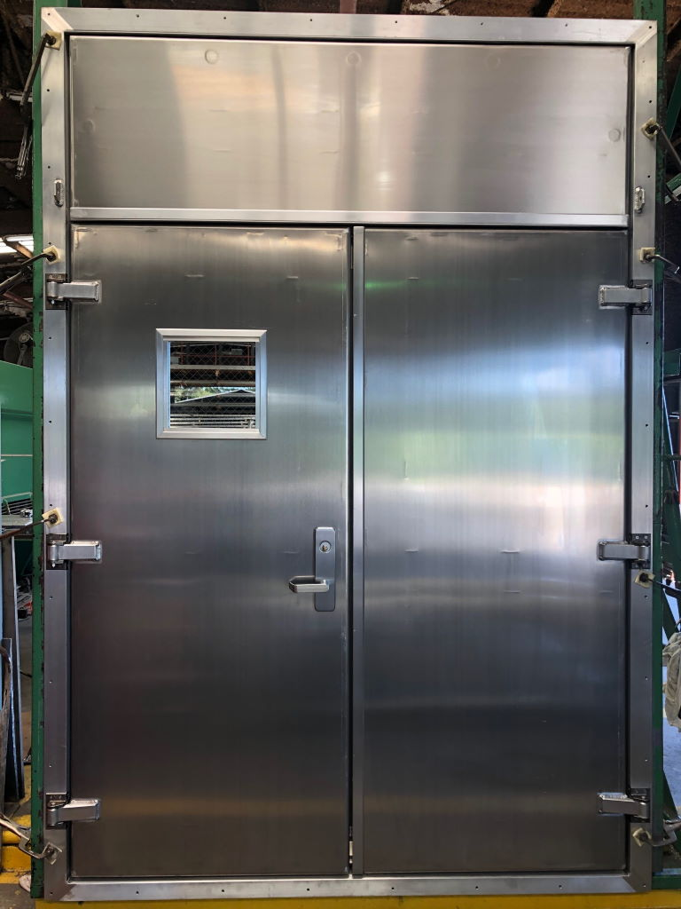 Aluminum Container Double door with a removable transom 02