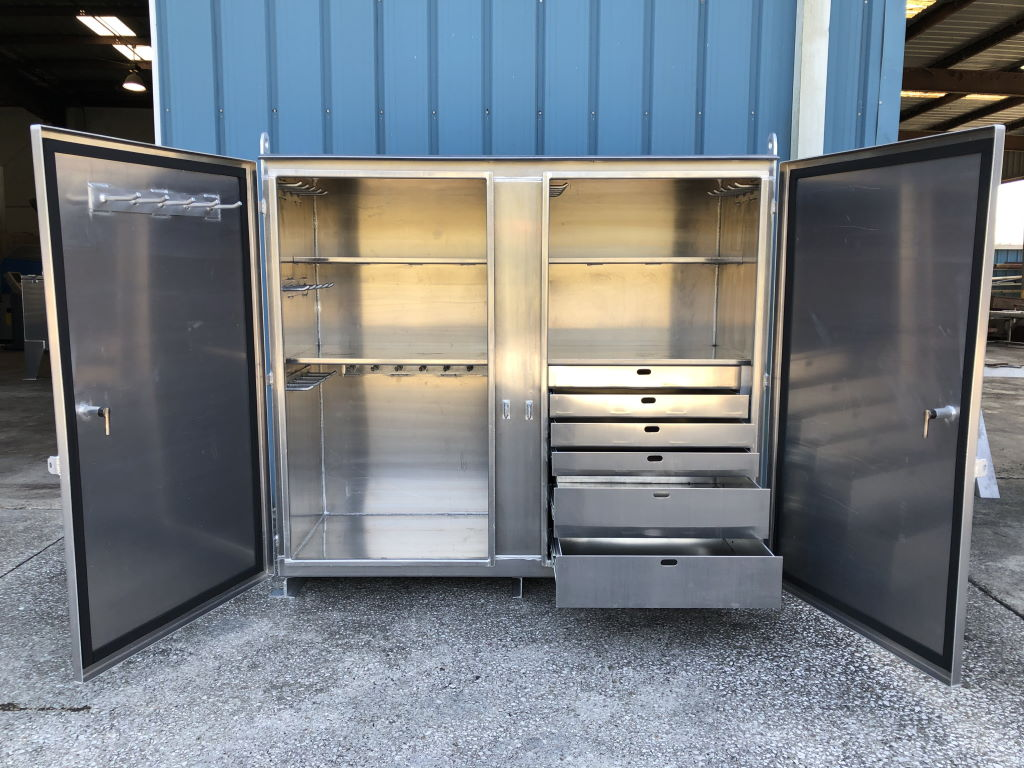 Photo of Aluminum Tool Cabinet with Drawers
