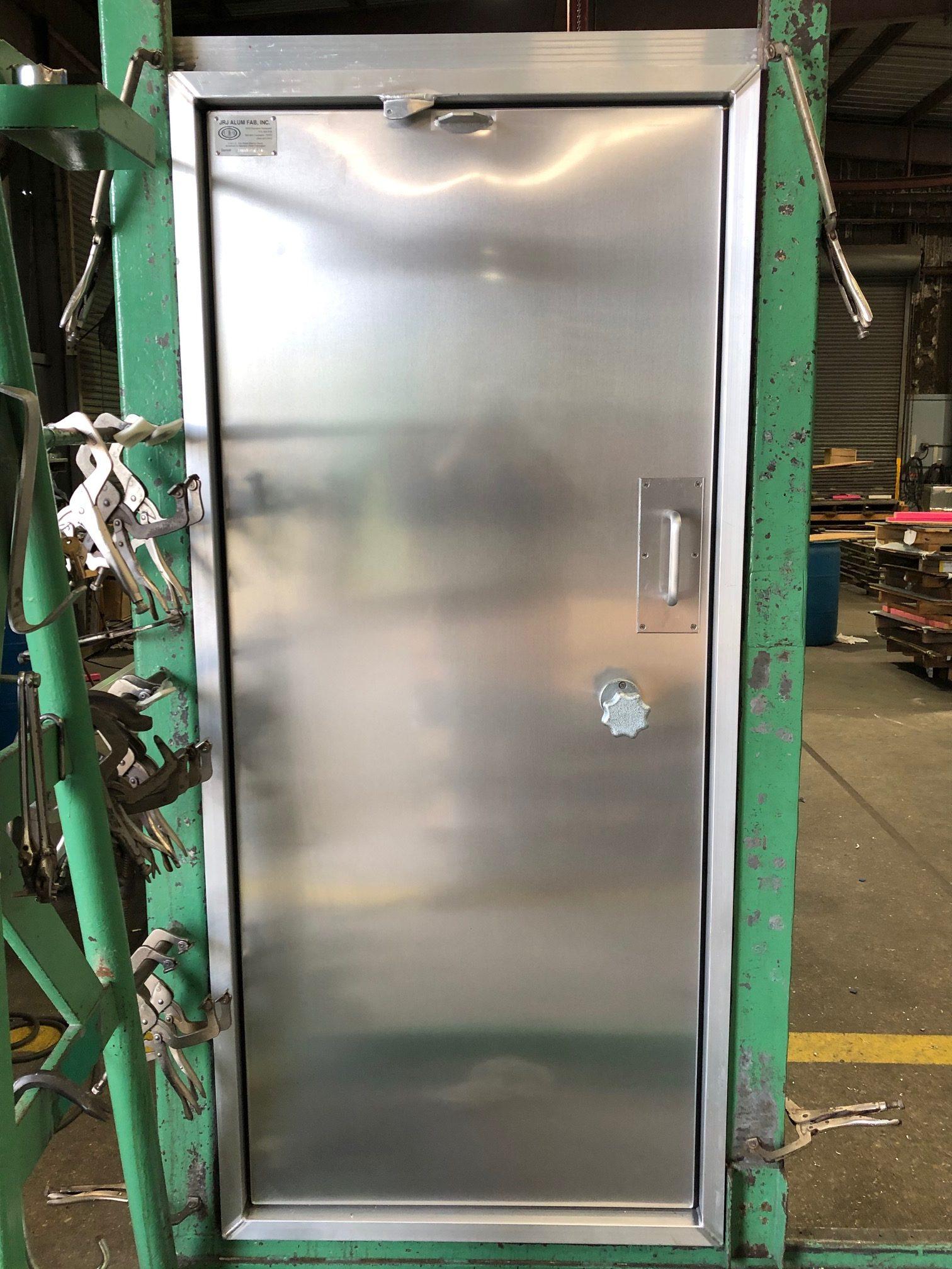 Aluminum Container Door w Cooler Lock